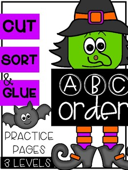 Halloween ABC Order Sorts (3 Levels)