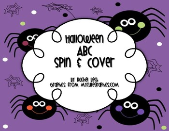 Halloween ABC Spin and Cover Freebie