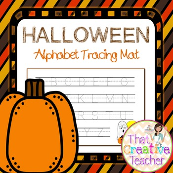 Halloween ABC Tracing Worksheet