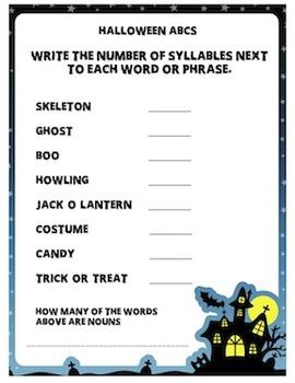 Halloween ABCs Worksheet