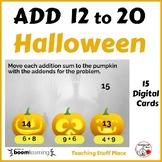 Halloween ADDITION 12 to 20 ... MATH Pumpkins... Internet Paperless Digital Deck