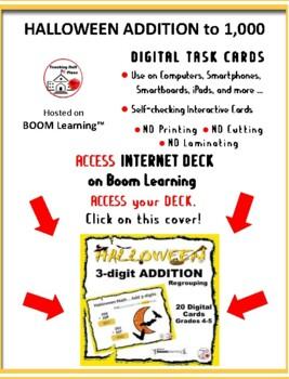 Halloween ADDITION  3-digits ... Regrouping MATH ... Internet Paperless Digital