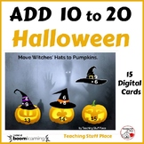 Halloween ADDITION 10 to 20 ... MATH ... Internet Paperless Digital Deck