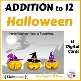 Halloween ADDITION to 12 ... MATH ... Internet Paperless Digital Deck