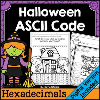 Halloween ASCII Code STEM Activities