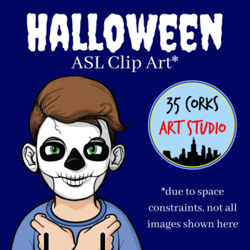 Halloween ASL Clip Art - American Sign Language (Commercial Use License)