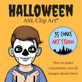 Halloween ASL Clip Art - American Sign Language (Personal Use License)