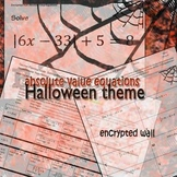 Halloween Algebra - Absolute Value Equations Encrypted Wall