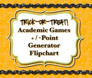 Halloween *Academic Games* Point Generator *Promethean Flipchart*