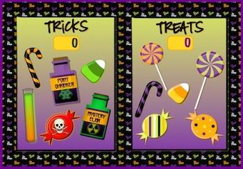 Halloween *Academic Games* Point Generator *Promethean Flipchart*