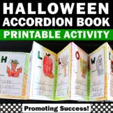 Halloween Craft and Writing Accordion Book, Halloween Vocabulary Activities