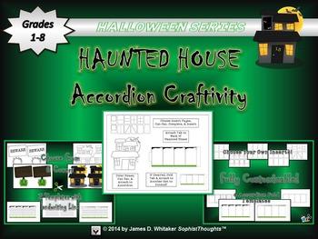 Halloween Accordion Craftivity Haunted House