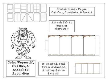 Halloween Accordion Craftivity Werewolf