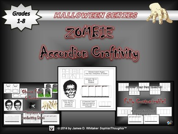 Halloween Accordion Craftivity Zombie & Grave