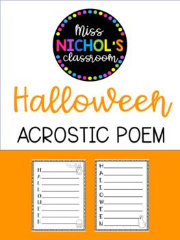 Acrostic Poem - Halloween