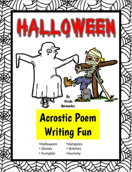 Halloween Writing Activities- Acrostic Poem Writing Fun!