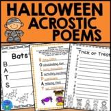 Halloween Acrostic Poems | Halloween Writing Activity