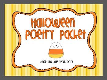 Halloween Acrostic Poetry Packet
