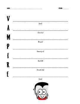 Halloween Acrostic Poetry with Figurative Language