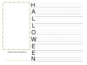 Halloween Acrostic and October Word Bank