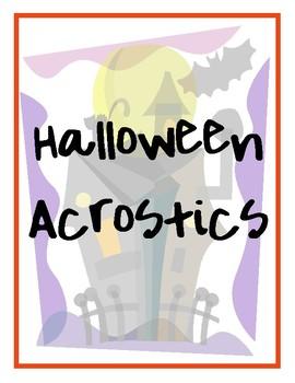 Halloween Acrostics