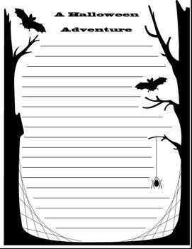 Halloween Acrostics and Writing Paper