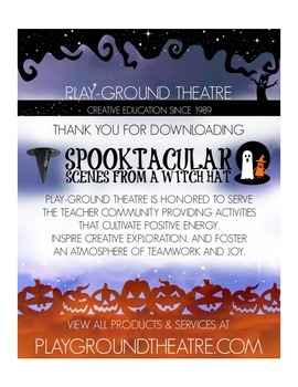 Halloween Acting Game - Spooktacular Scenes from a Witch Hat