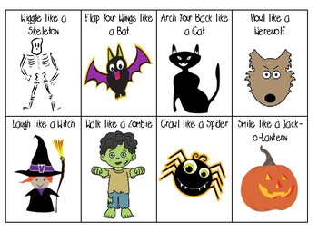 Halloween Action Cards