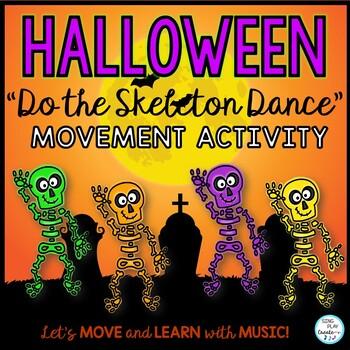 """Halloween Action Song: """"Do the Skeleton Dance"""" Music, Preschool, Brain Break"""