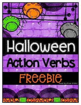 Halloween Action Verb Freebie