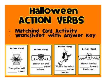 Halloween Action Verbs