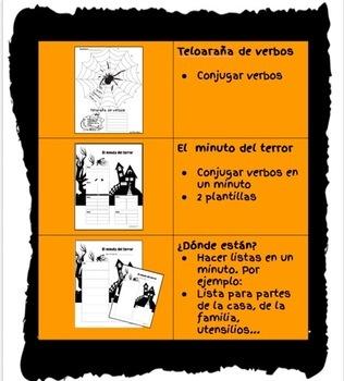 Halloween : Actividades con gramática en español. Verbo Ser, Estar, Tener...