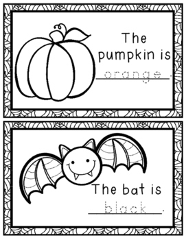 Kindergarten Halloween Activities: 2 Games + Color Words Activity