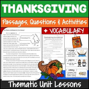 Thanksgiving Activities {Thanksgiving Writing, Reading, S&L, Math}
