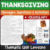 Thanksgiving Reading Comprehension Activities {Dollar Deals}