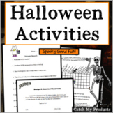 Halloween Activities for Grades 3 - 6 BUNDLE