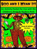 Halloween Reading Activities: Boo & I Mean It Halloween Activity Packet