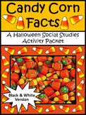 Fall Activities: Candy Corn Facts Halloween Activity Packet - B/W