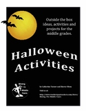 Halloween Activities - Writing and Art Projects with a unique approach
