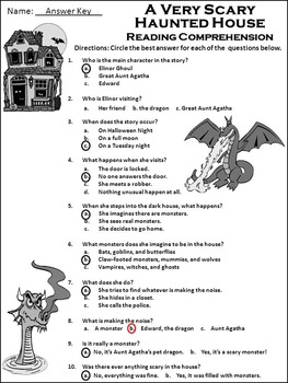 Halloween Language Arts Activities: A Very Scary Haunted House Activity Packet