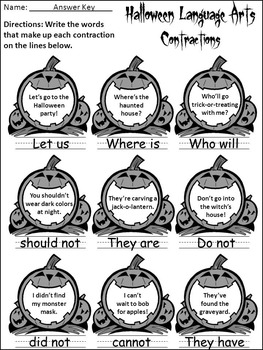 Halloween Worksheet Activity Packet: Halloween Language Arts Activity Packet