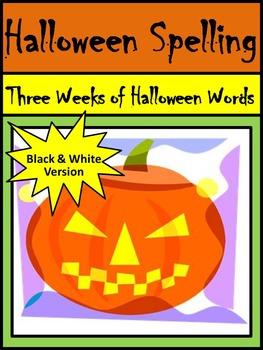 Halloween Language Arts Activities: Halloween Spelling Act