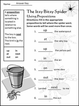 Halloween Language Arts Activities: The Itsy Bitsy Spider Activity Packet