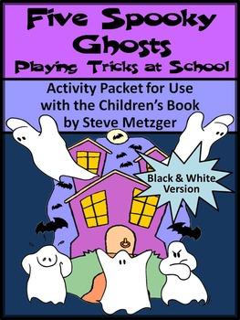 Halloween Reading Activities: Five Spooky Ghosts Halloween Activities