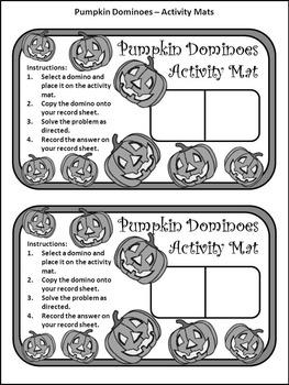Halloween Activities: Pumpkin Dominoes Halloween Game Activity Packet