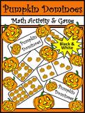 Halloween Activities: Pumpkin Dominoes Halloween Game Activity - B/W