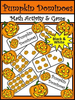 Halloween Activities: Pumpkin Dominoes Halloween Game Acti