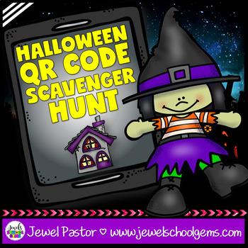 Halloween Activities (Halloween QR Codes Scavenger Hunt)