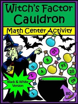 Halloween Math: Witch's Factor Cauldron Halloween Activity Packet
