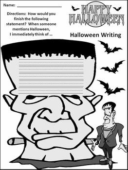 Halloween Activities: Halloween Writing Projects Activity Packet